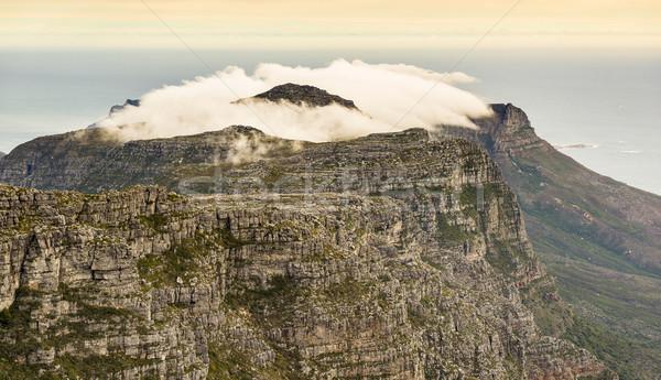 Twaalf South Africa bewolkt top tabel berg Stockfoto © THP