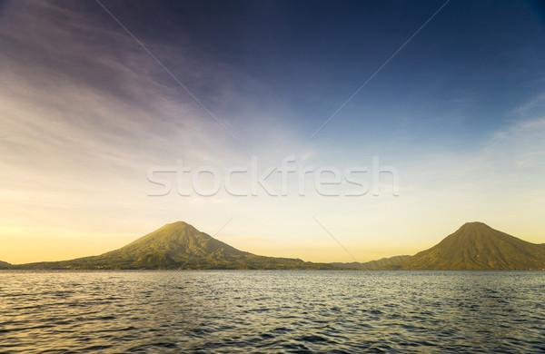 озеро Гватемала небе пейзаж путешествия гор Сток-фото © THP