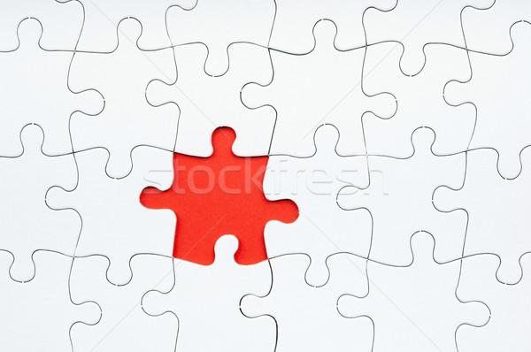Kirakós játék hiányzó darab fehér háttér hálózat Stock fotó © THP