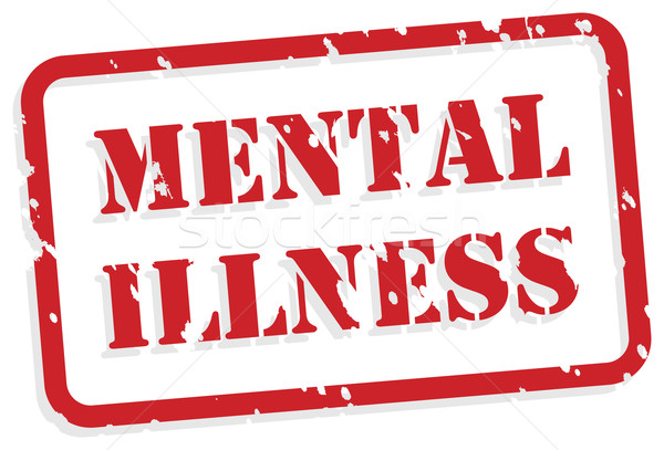 Mental Illness Rubber Stamp Stock photo © THP