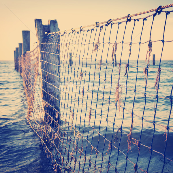 Stock photo: Seaside Nets