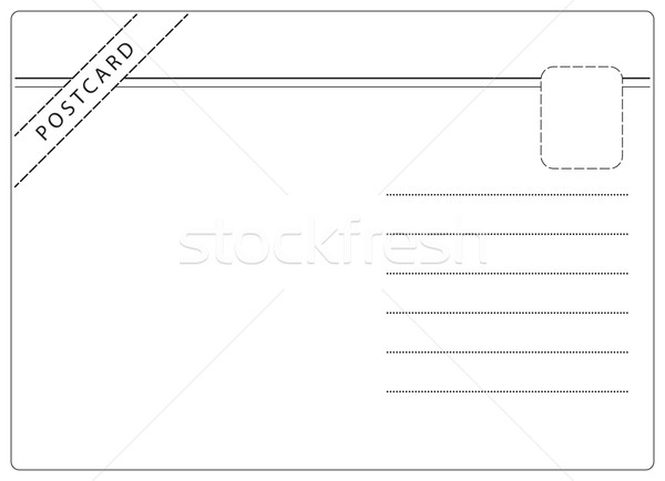 Simple Postcard Vector Stock photo © THP