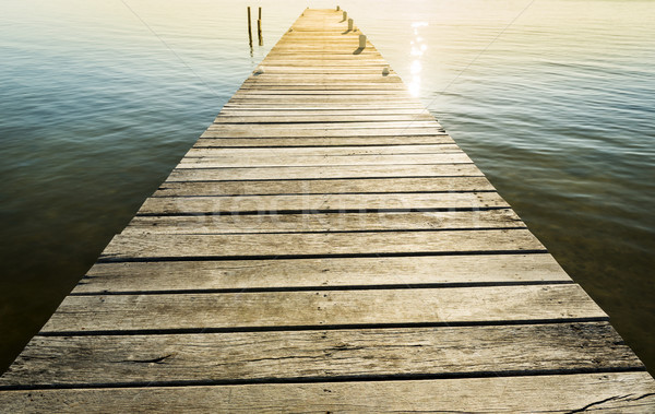 Wooden Jetty Background Stock photo © THP