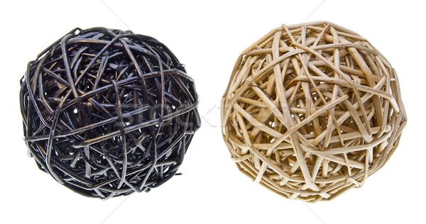 Woven Wicker Balls Stock photo © THP