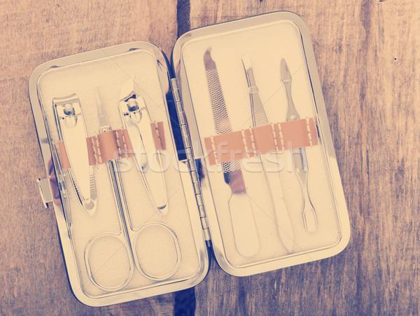 Nail Scissors Kit Vintage Stock photo © THP
