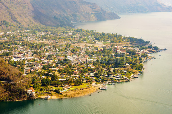 Aerial View Of Panajachel Guatemala Stock photo © THP