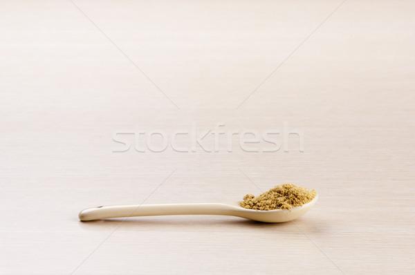 Terra coriandolo cucchiaio legno copia spazio legno Foto d'archivio © THP