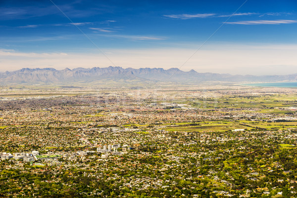 Panorama of Cape Town Towards Stellenbosch Stock photo © THP