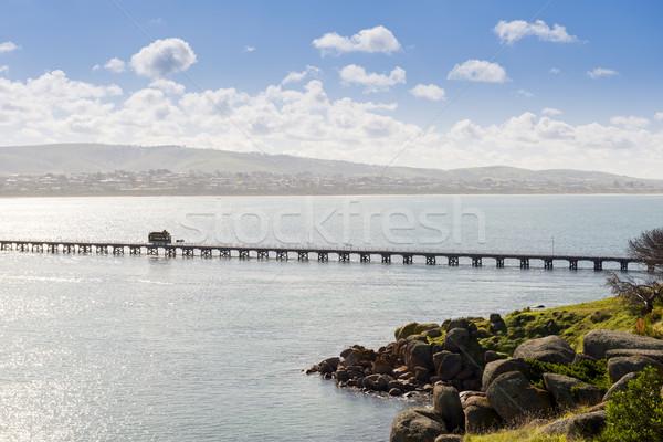 Gránit sziget ló fuvar népszerű dél Stock fotó © THP