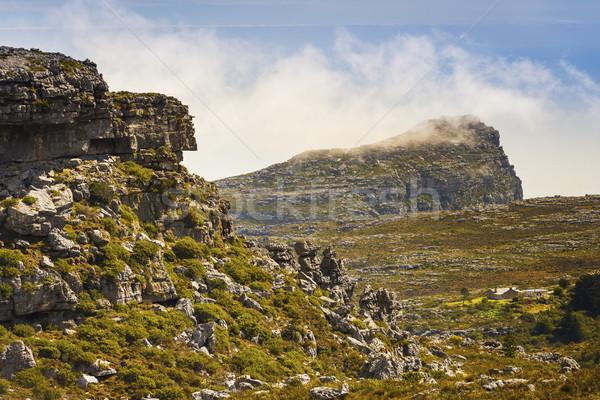 Paysages table montagne Le Cap Afrique du Sud nuages Photo stock © THP
