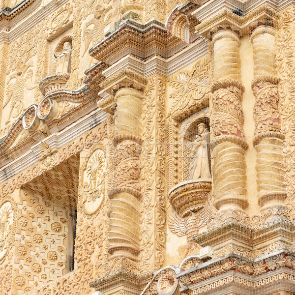 Baroque Carvings On Church In Mexico Stock photo © THP