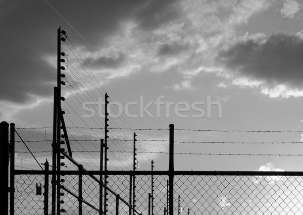 Sunset Fence Stock photo © THP