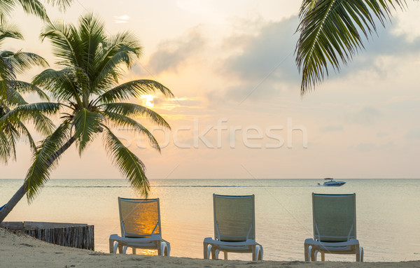 Sunrise On Dream Beach Vacation Stock photo © THP