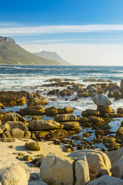 Coastal Rocks and Mountains Stock photo © THP