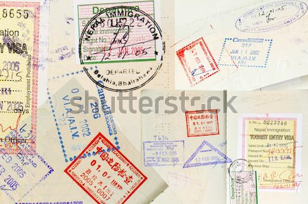 Passport Stamps Background Stock photo © THP