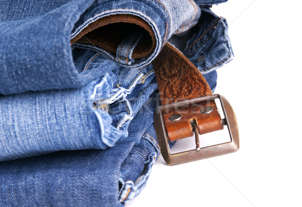 Jeans and Belt Isolated Stock photo © THP