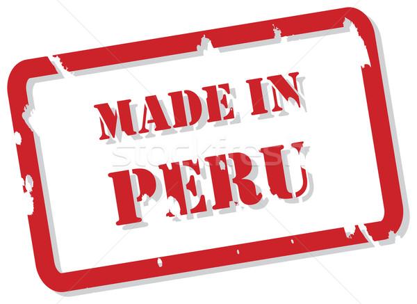 ペルー スタンプ 赤 ベクトル デザイン ストックフォト © THP