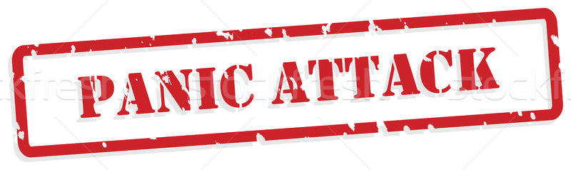 Panic Attack Rubber Stamp Stock photo © THP