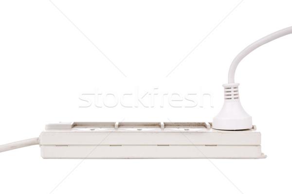 Poder isolado branco metal rede indústria Foto stock © THP