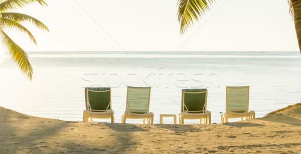 Stockfoto: Tropische · vakantie · strand · banner · tropisch · eiland · strandvakantie