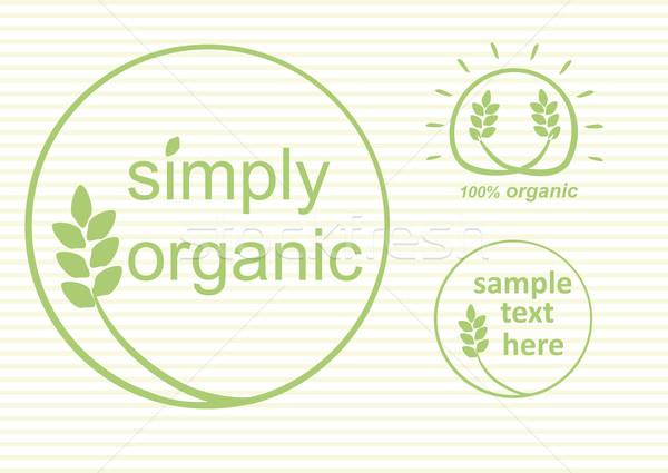 Organisch eenvoudig vector label logo Stockfoto © THP
