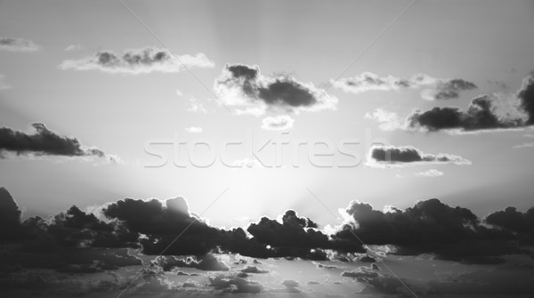 Sunrise Sky Black and White Stock photo © THP