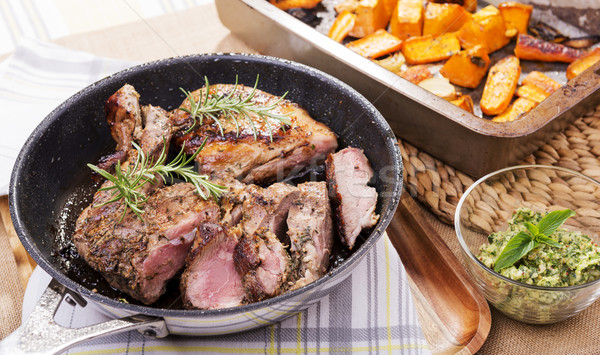 Roast Lamb Stock photo © THP