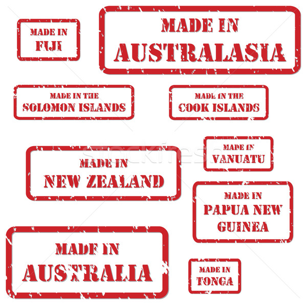 Postzegels ingesteld Rood rubber symbolen achtergrond Stockfoto © THP