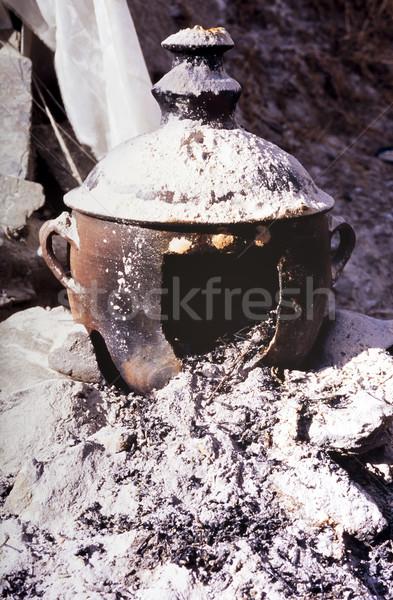 Pot as ceremonieel uit brand asian Stockfoto © THP