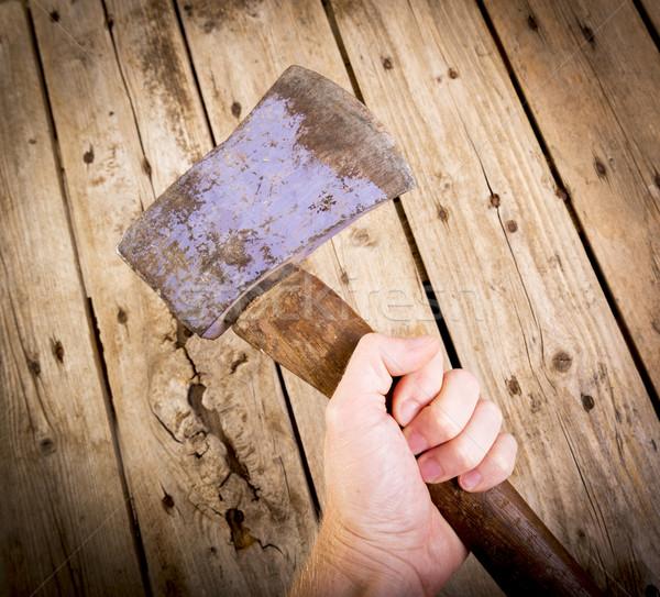 Machado homem velho mão Foto stock © THP