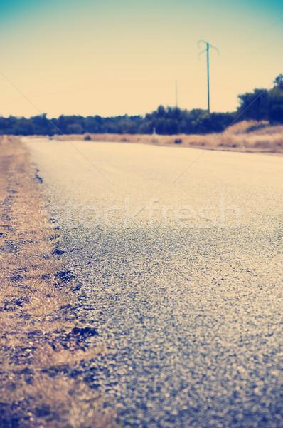 дороги край мелкий Focus красоту Сток-фото © THP