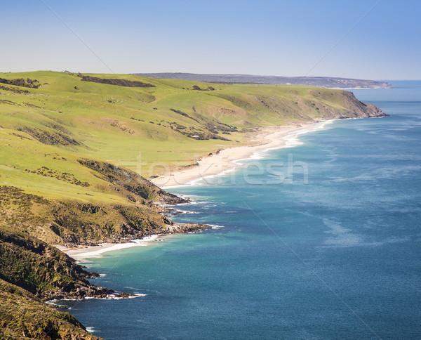 Ausztrál tengerpart tájkép dél természet Stock fotó © THP