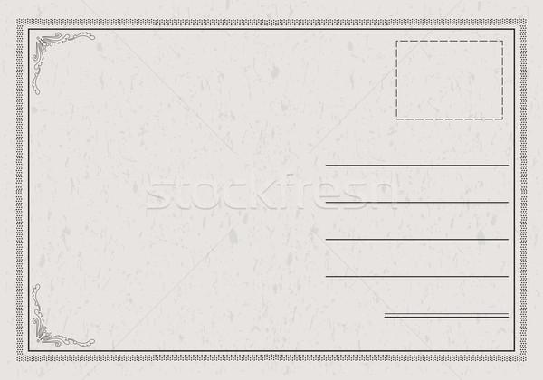 Classic Postcard Vector Stock photo © THP