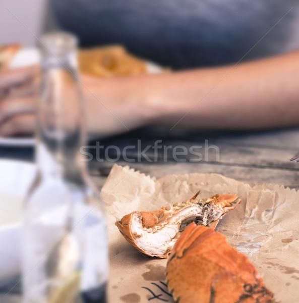 Frutos do mar Austrália moderno cerveja bicho comida Foto stock © THP
