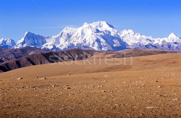 Montagnes élevé plateau tibet lumière Voyage Photo stock © THP