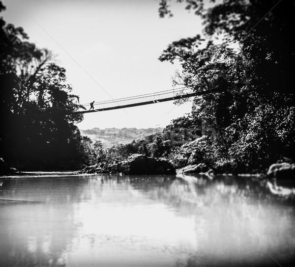 Bağbozumu macera siyah beyaz fotoğraf vardiya odak Stok fotoğraf © THP
