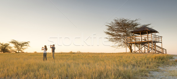 Young Couple on African Safari Stock photo © THP