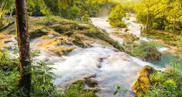Landscape View Of Agua Azul Stock photo © THP