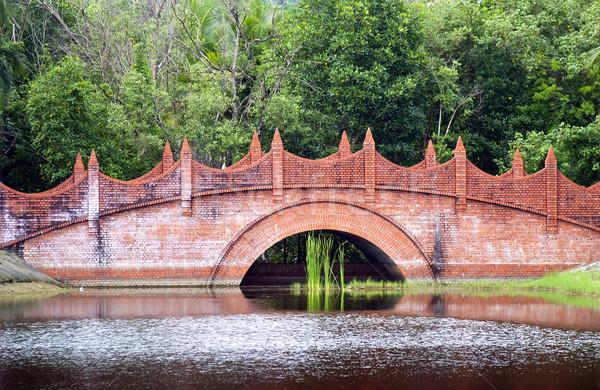 классический моста красный кирпичных здании деревья Сток-фото © THP