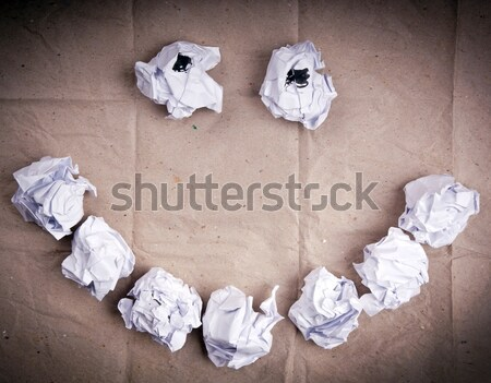 ストックフォト: 笑顔 · 紙 · アップ · 白