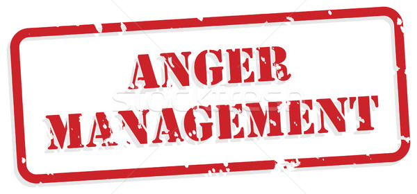 Anger Management Rubber Stamp Stock photo © THP