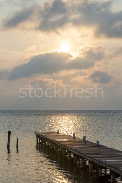 Sunrise Over Wooden Jetty Stock photo © THP