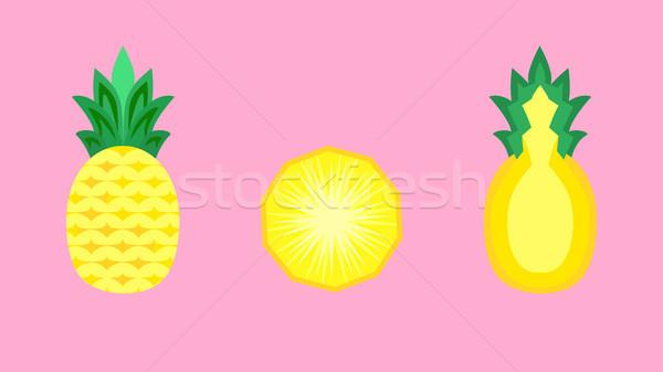 Ananás fruto bandeira vetor inteiro Foto stock © THP