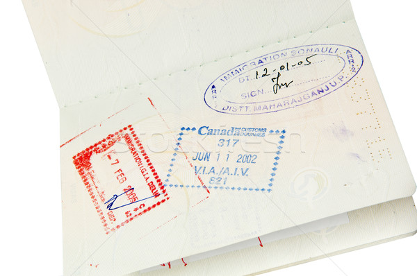 Passport Stamps Stock photo © THP