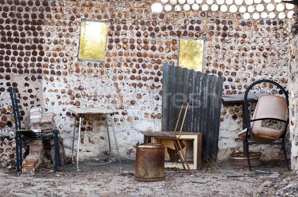 öreg otthon belső konzervdoboz bútor ház Stock fotó © THP