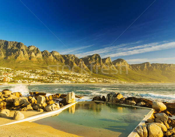 Doze pôr do sol África do Sul praia céu natureza Foto stock © THP