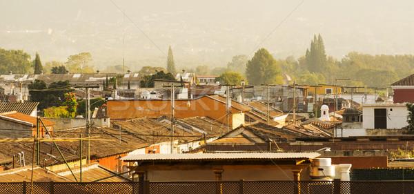 都市 屋根 歴史的 町 グアテマラ セントラル ストックフォト © THP