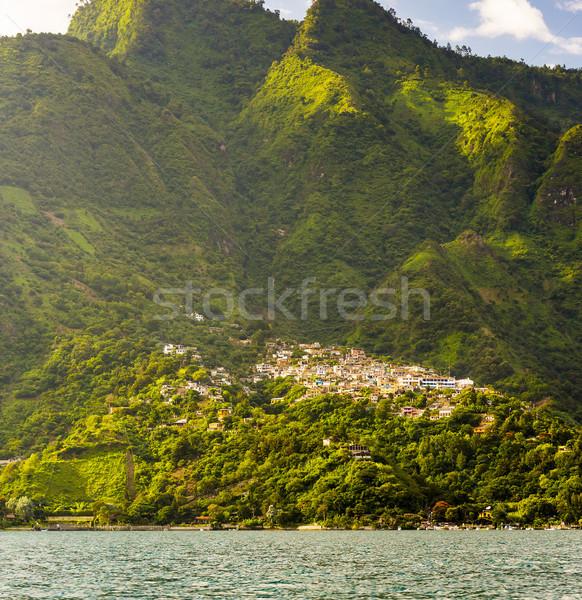 村 サンタクロース 山 後ろ 湖 グアテマラ ストックフォト © THP