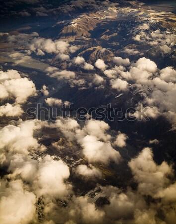 Légi hegyek légifelvétel hegy terjedelem hó Stock fotó © THP
