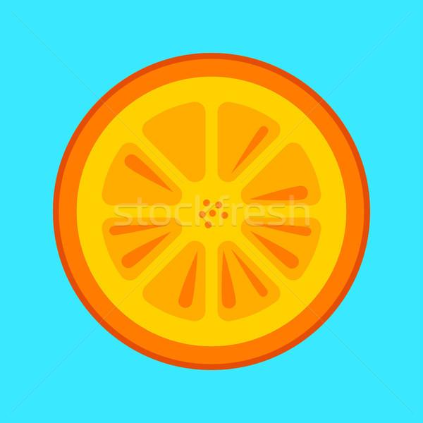 Pomarańczy plaster wektora proste minimalizm sztuki Zdjęcia stock © THP